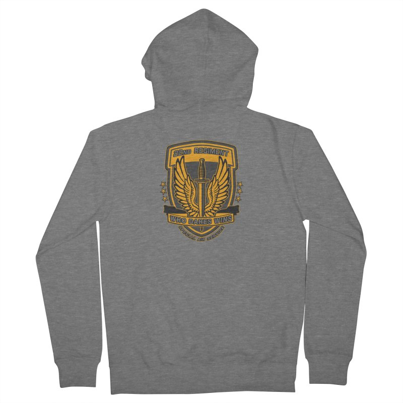 22nd Regiment Insignia Men's French Terry Zip-Up Hoody by andreusd's Artist Shop