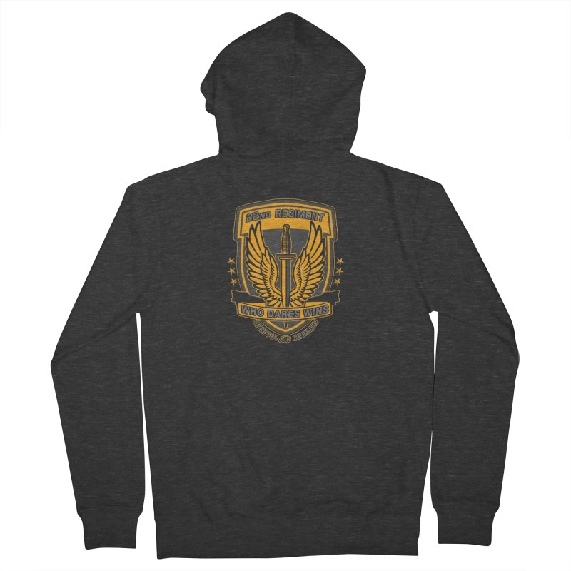 22nd Regiment Insignia Men's Zip-Up Hoody by andreusd's Artist Shop