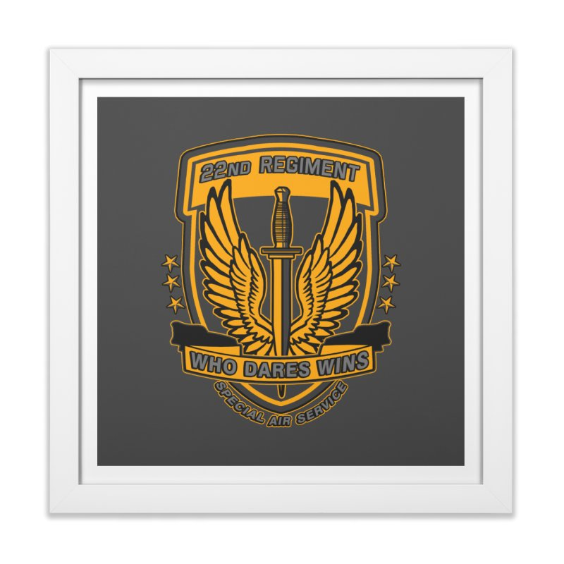 22nd Regiment Insignia Home Framed Fine Art Print by andreusd's Artist Shop
