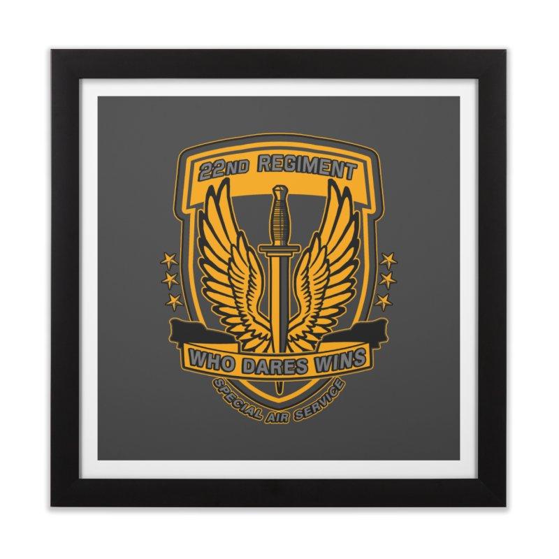 22nd Regiment Insignia Home Framed Fine Art Print by andreusd's Artist Shop