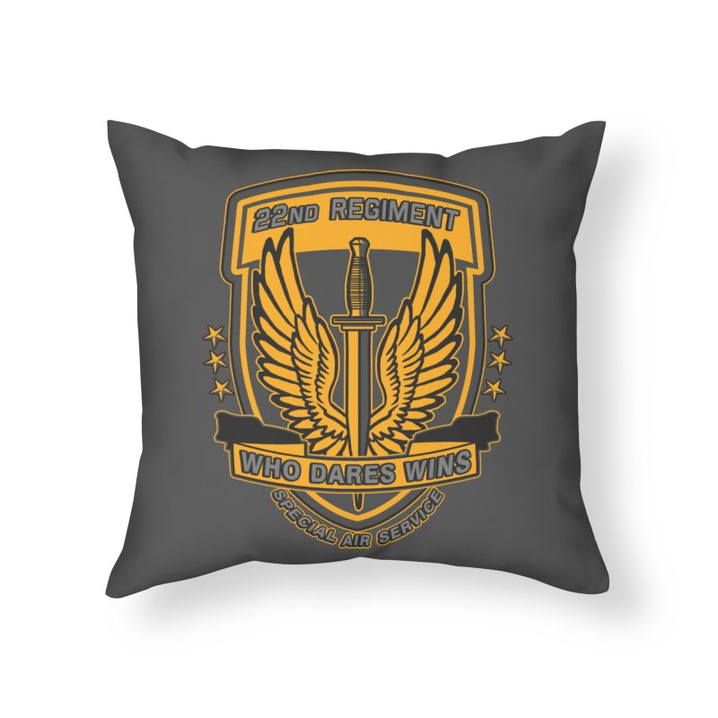 22nd Regiment Insignia Home Throw Pillow by andreusd's Artist Shop