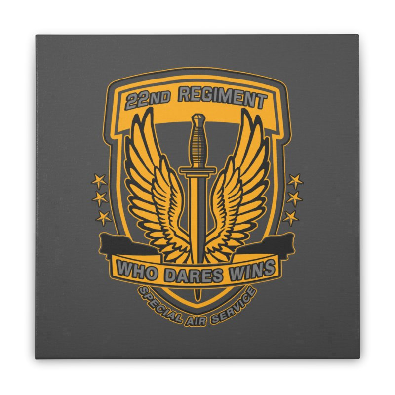 22nd Regiment Insignia Home Stretched Canvas by andreusd's Artist Shop