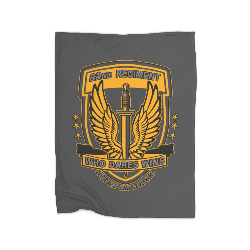 22nd Regiment Insignia Home Fleece Blanket Blanket by andreusd's Artist Shop