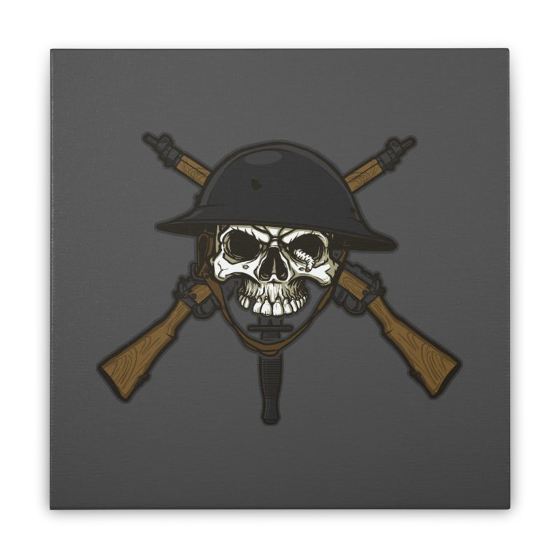 Do Your Bit on the Battlefield Home Stretched Canvas by andreusd's Artist Shop