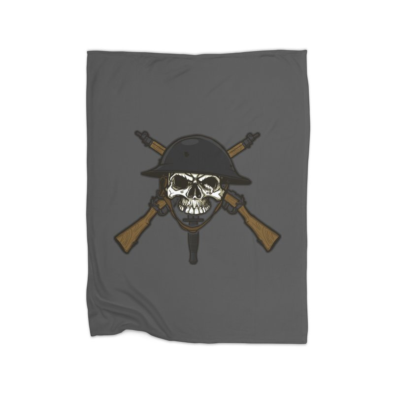 Do Your Bit on the Battlefield Home Fleece Blanket Blanket by andreusd's Artist Shop