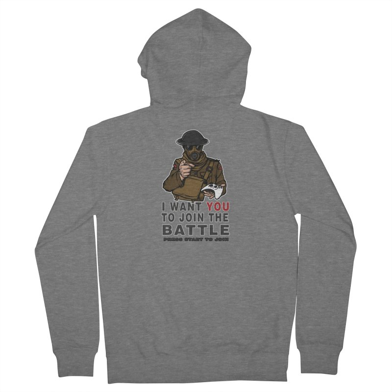 Join the Battle Men's French Terry Zip-Up Hoody by andreusd's Artist Shop
