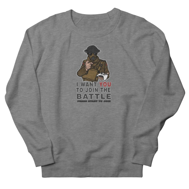 Join the Battle Men's French Terry Sweatshirt by andreusd's Artist Shop