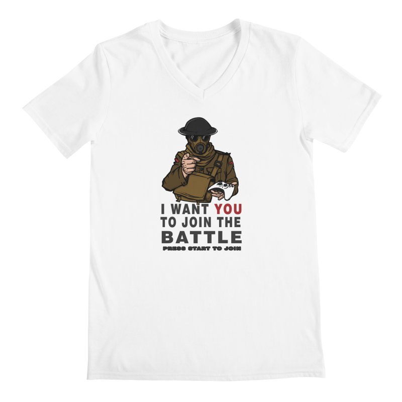 Join the Battle Men's V-Neck by andreusd's Artist Shop