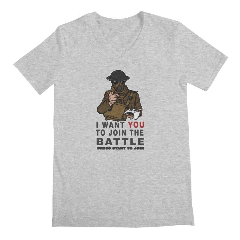 Join the Battle Men's Regular V-Neck by andreusd's Artist Shop