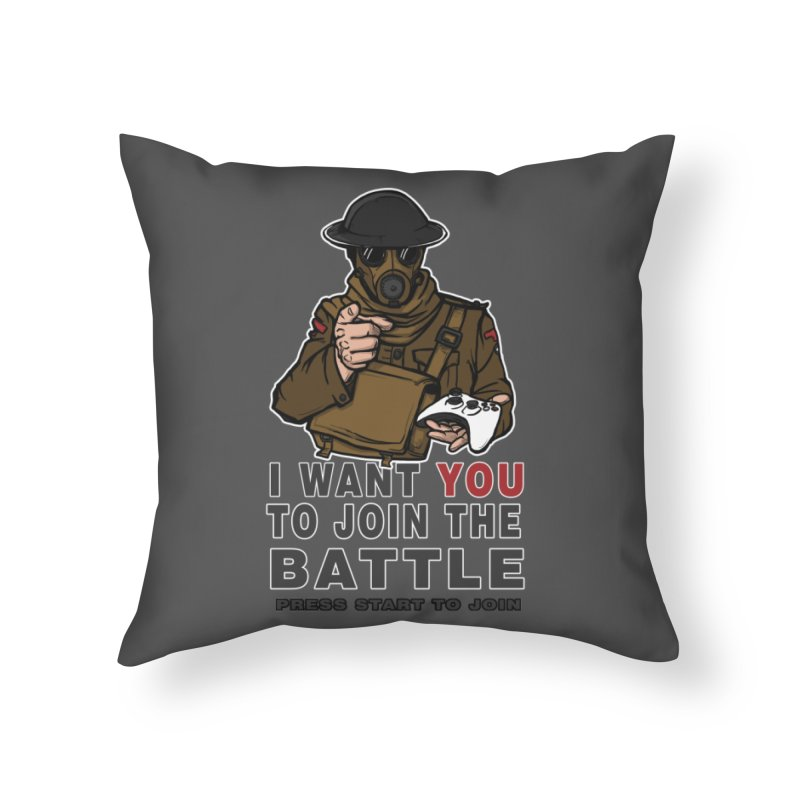 Join the Battle Home Throw Pillow by andreusd's Artist Shop