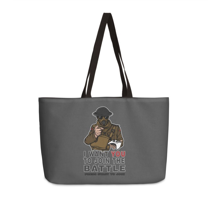 Join the Battle Accessories Weekender Bag Bag by andreusd's Artist Shop