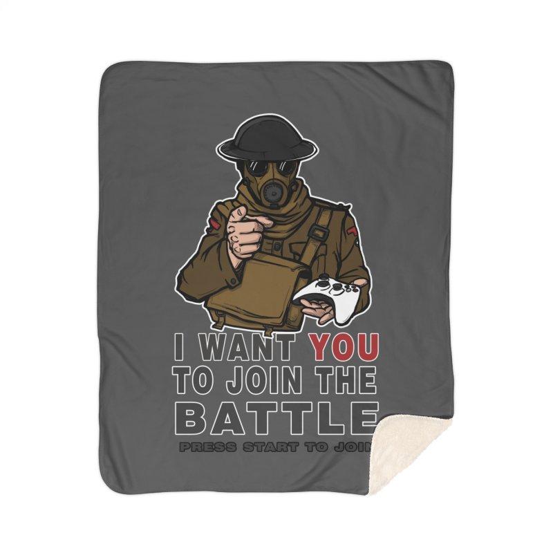 Join the Battle Home Sherpa Blanket Blanket by andreusd's Artist Shop