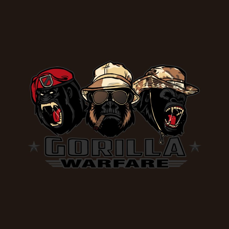 Gorilla WarFare Women's Longsleeve T-Shirt by andreusd's Artist Shop