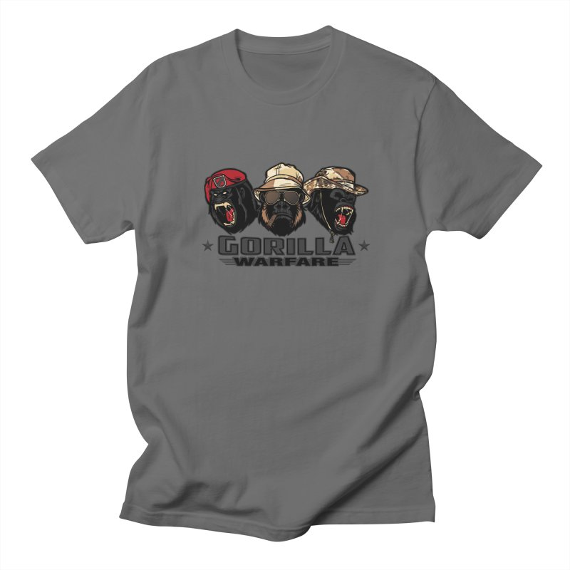 Gorilla WarFare Men's T-Shirt by andreusd's Artist Shop