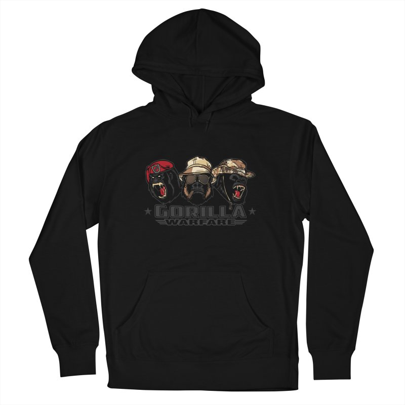 Gorilla WarFare Women's French Terry Pullover Hoody by andreusd's Artist Shop