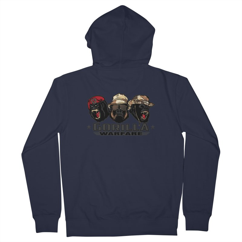 Gorilla WarFare Men's French Terry Zip-Up Hoody by andreusd's Artist Shop