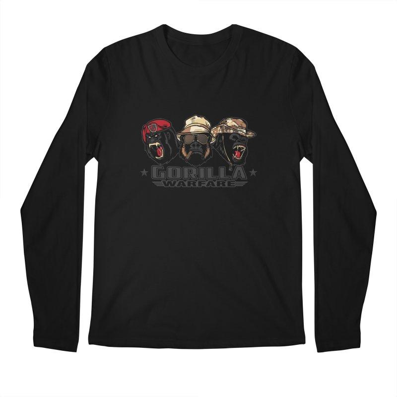 Gorilla WarFare Men's Regular Longsleeve T-Shirt by andreusd's Artist Shop