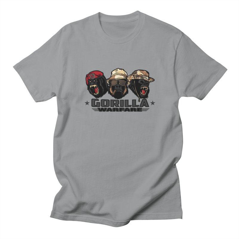 Gorilla WarFare Men's T-shirt by andreusd's Artist Shop