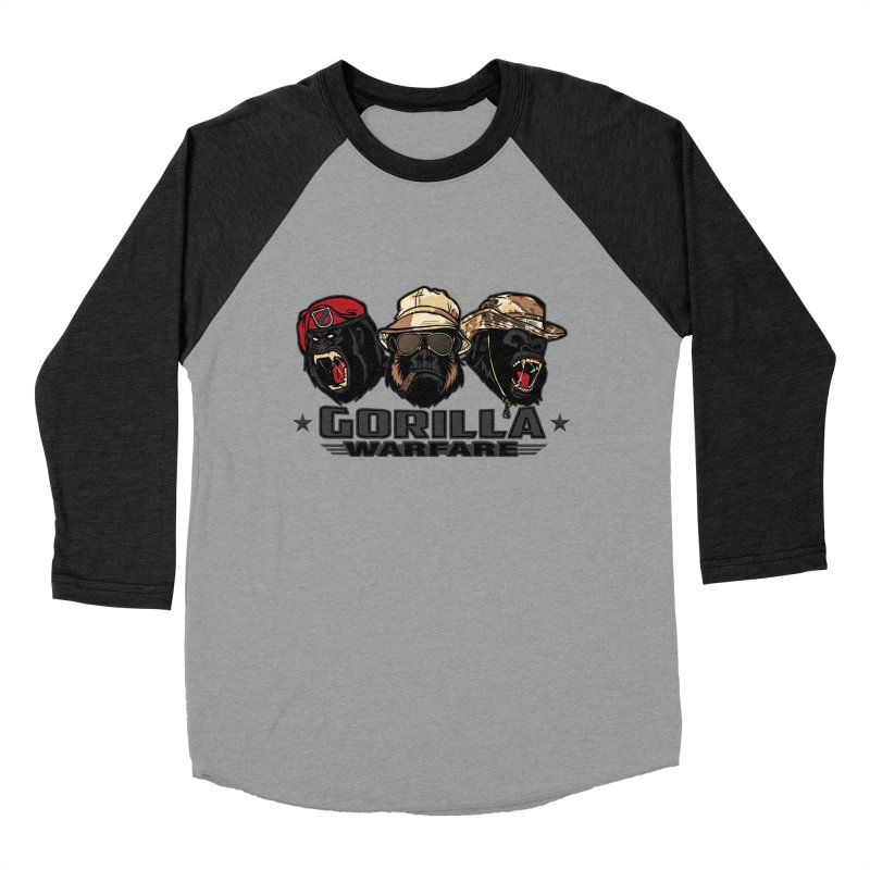 Gorilla WarFare Men's Baseball Triblend T-Shirt by andreusd's Artist Shop