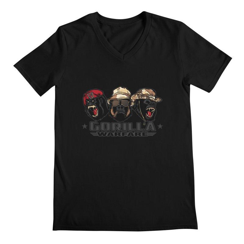 Gorilla WarFare Men's Regular V-Neck by andreusd's Artist Shop