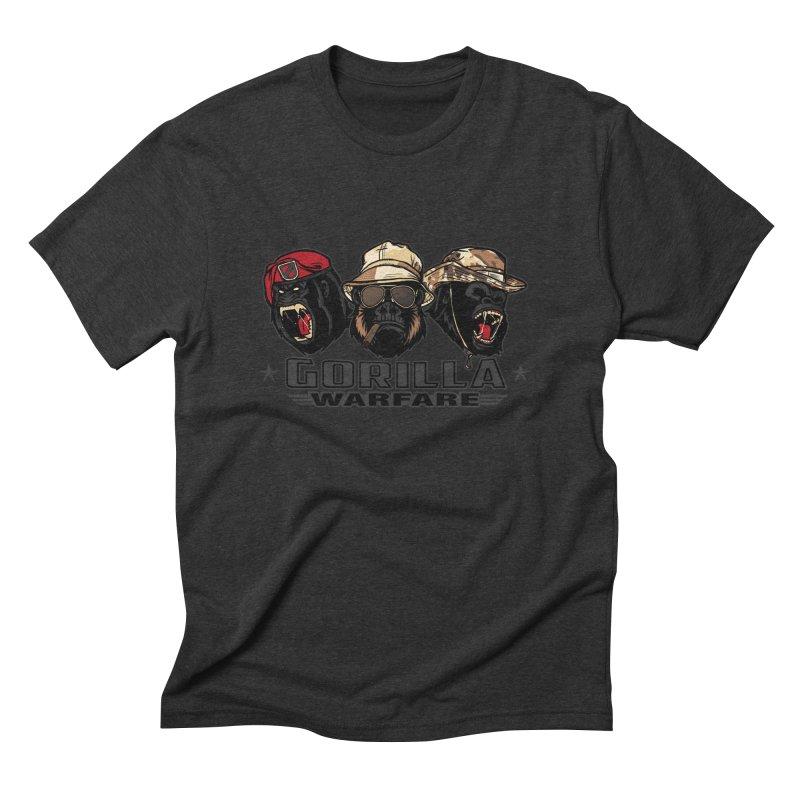 Gorilla WarFare Men's Triblend T-shirt by andreusd's Artist Shop