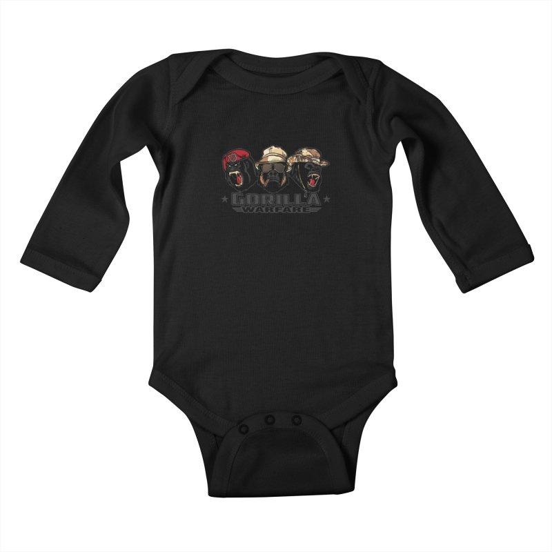Gorilla WarFare Kids Baby Longsleeve Bodysuit by andreusd's Artist Shop