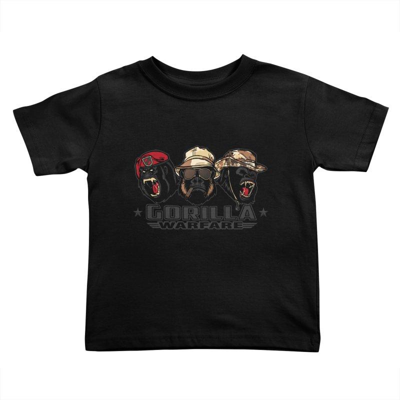 Gorilla WarFare Kids Toddler T-Shirt by andreusd's Artist Shop