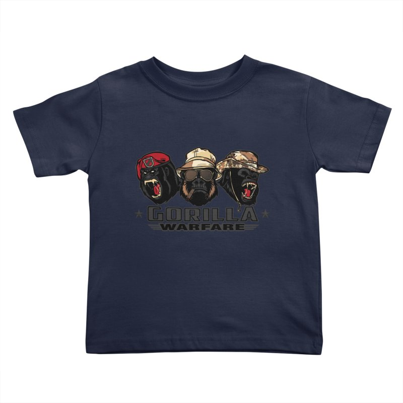Gorilla WarFare Kids Toddler T-Shirt by andreusd's Artist Shop
