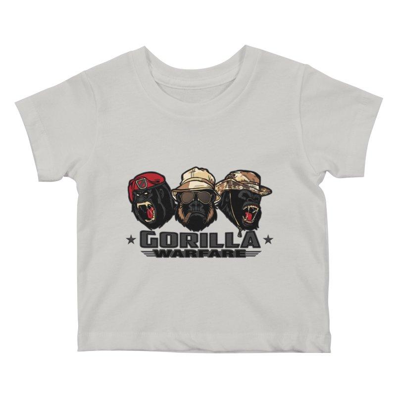 Gorilla WarFare Kids Baby T-Shirt by andreusd's Artist Shop