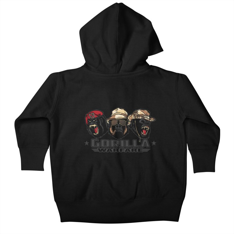 Gorilla WarFare Kids Baby Zip-Up Hoody by andreusd's Artist Shop