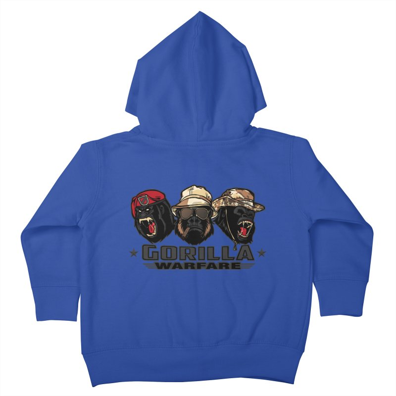Gorilla WarFare Kids Toddler Zip-Up Hoody by andreusd's Artist Shop