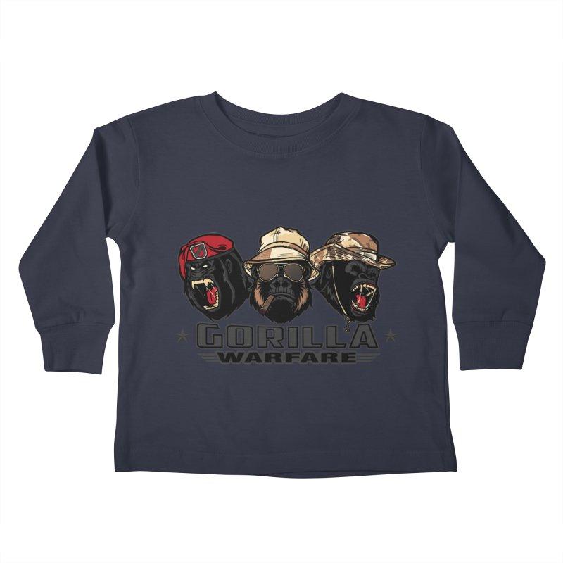 Gorilla WarFare Kids Toddler Longsleeve T-Shirt by andreusd's Artist Shop