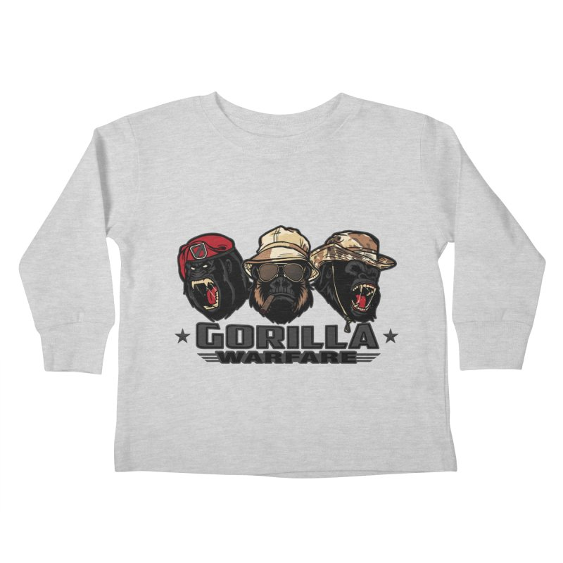 Gorilla WarFare Kids Toddler Longsleeve T-Shirt by andreusd's Artist Shop
