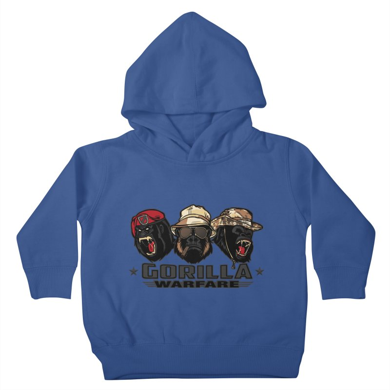 Gorilla WarFare Kids Toddler Pullover Hoody by andreusd's Artist Shop