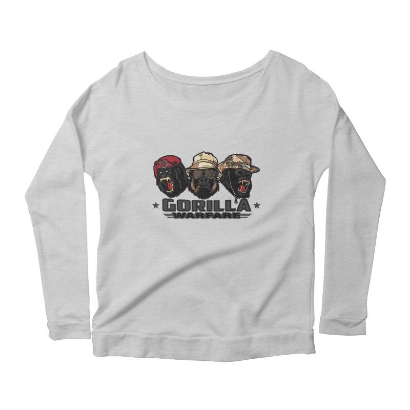 Gorilla WarFare Women's Scoop Neck Longsleeve T-Shirt by andreusd's Artist Shop