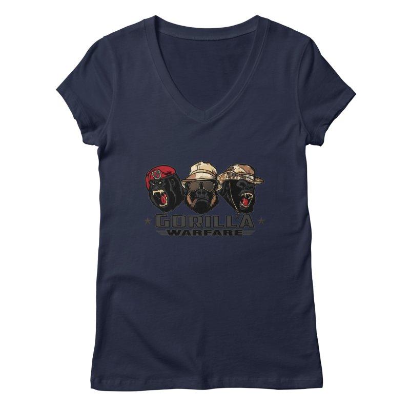 Gorilla WarFare Women's Regular V-Neck by andreusd's Artist Shop