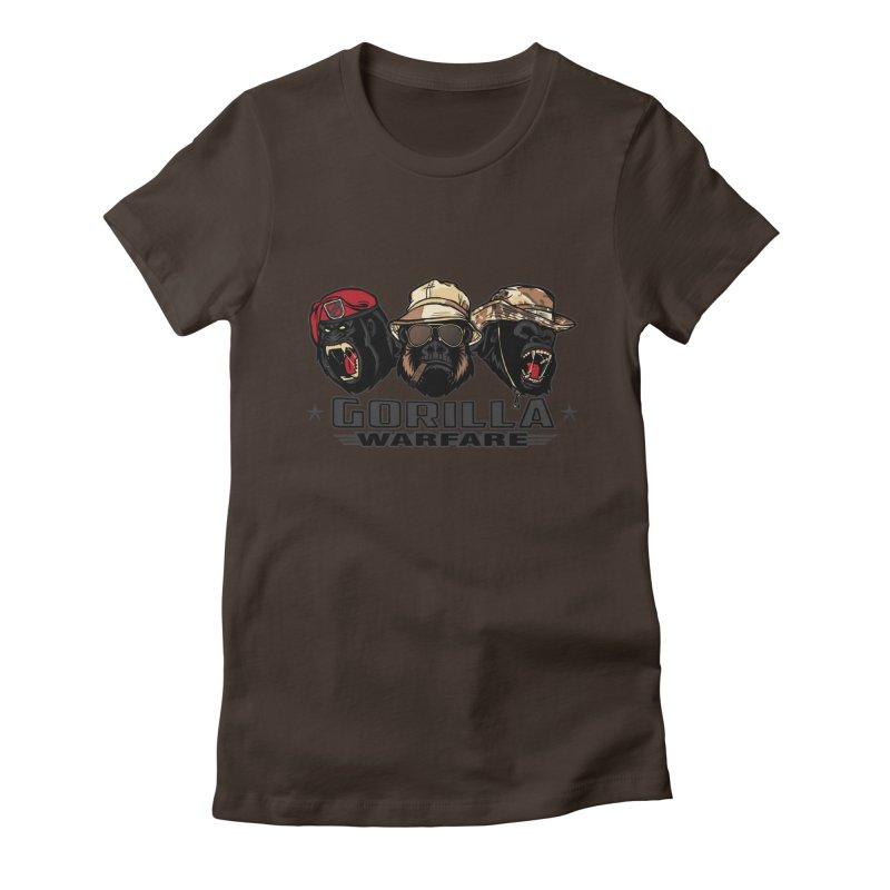 Gorilla WarFare Women's T-Shirt by andreusd's Artist Shop