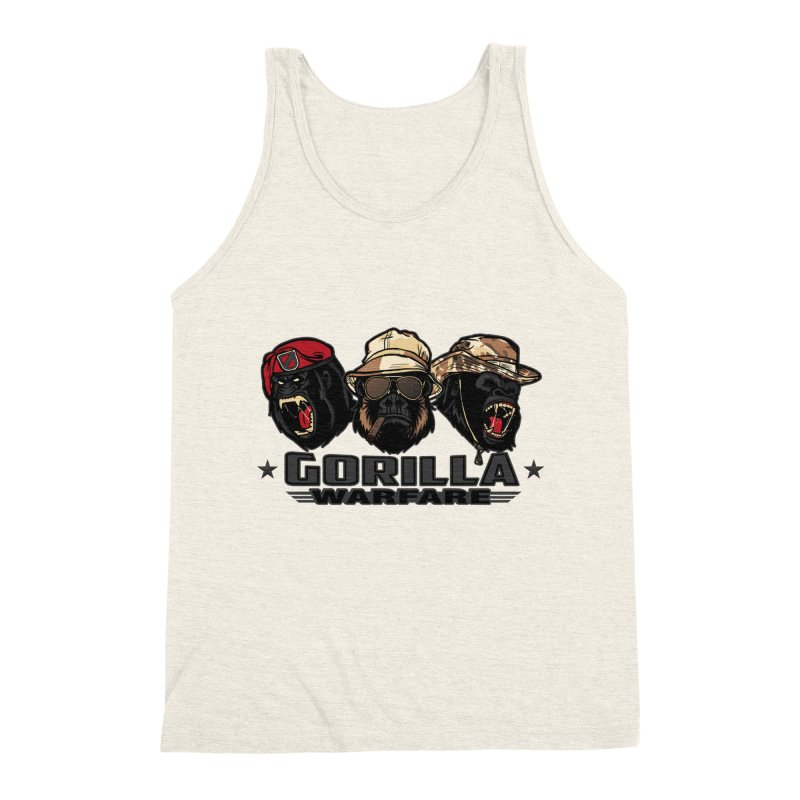 Gorilla WarFare Men's Triblend Tank by andreusd's Artist Shop