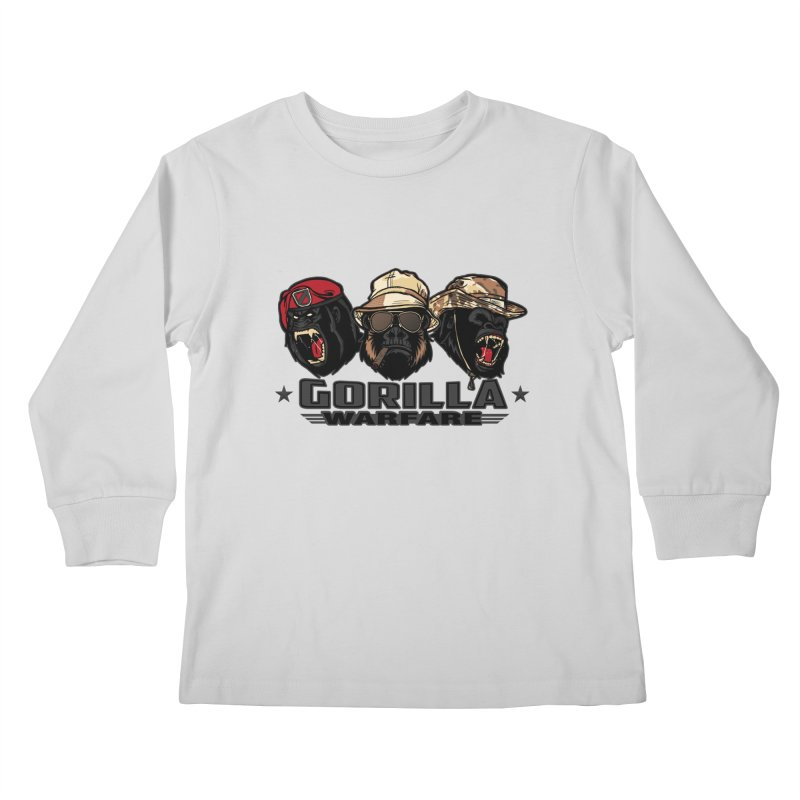 Gorilla WarFare Kids Longsleeve T-Shirt by andreusd's Artist Shop