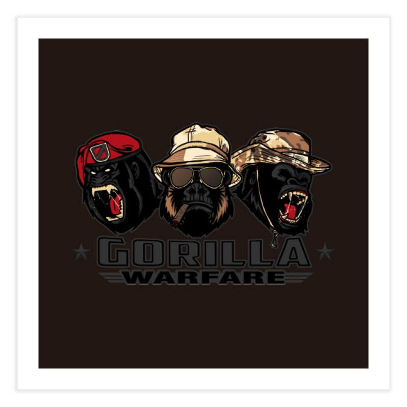 Gorilla WarFare Home Fine Art Print by andreusd's Artist Shop