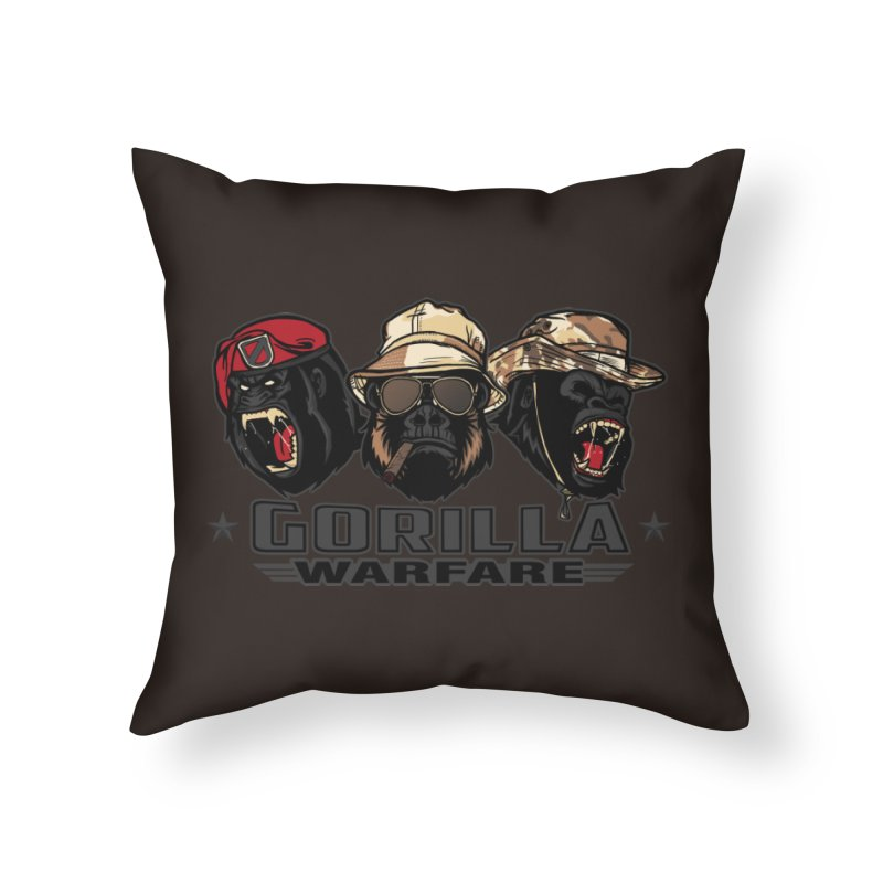 Gorilla WarFare Home Throw Pillow by andreusd's Artist Shop