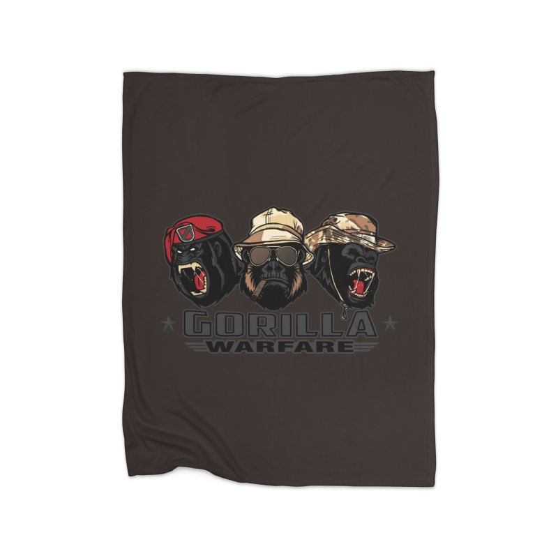 Gorilla WarFare Home Fleece Blanket Blanket by andreusd's Artist Shop