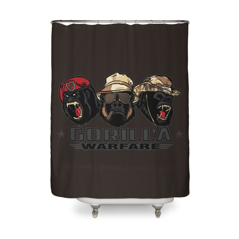 Gorilla WarFare Home Shower Curtain by andreusd's Artist Shop