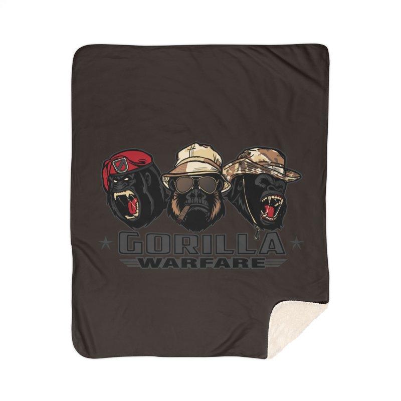 Gorilla WarFare Home Sherpa Blanket Blanket by andreusd's Artist Shop