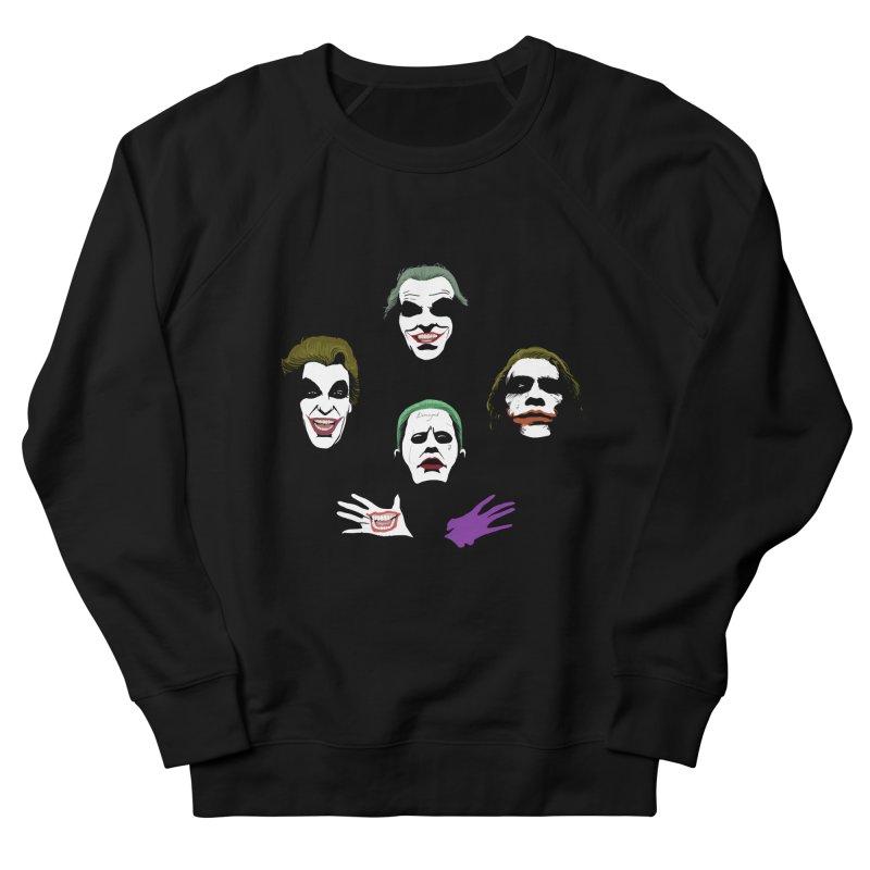 the Joker Rhapsody Women's French Terry Sweatshirt by Andrew's Fantastic World Shop