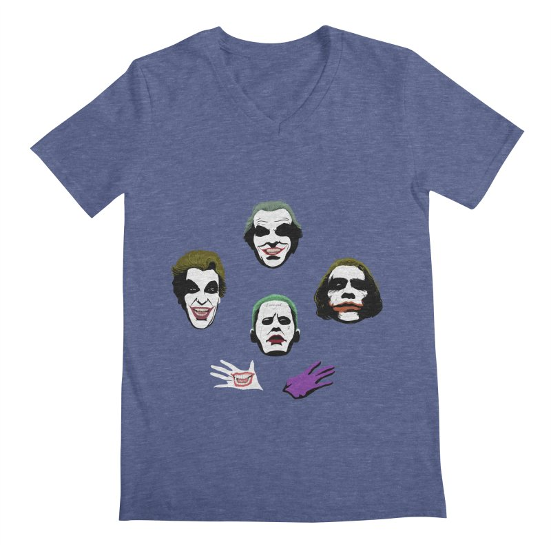 the Joker Rhapsody Men's V-Neck by Andrew's Fantastic World Shop