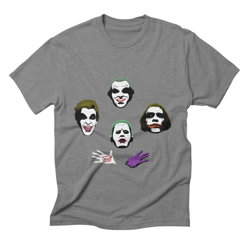 the Joker Rhapsody Men's Triblend T-shirt by Andrew's Fantastic World Shop