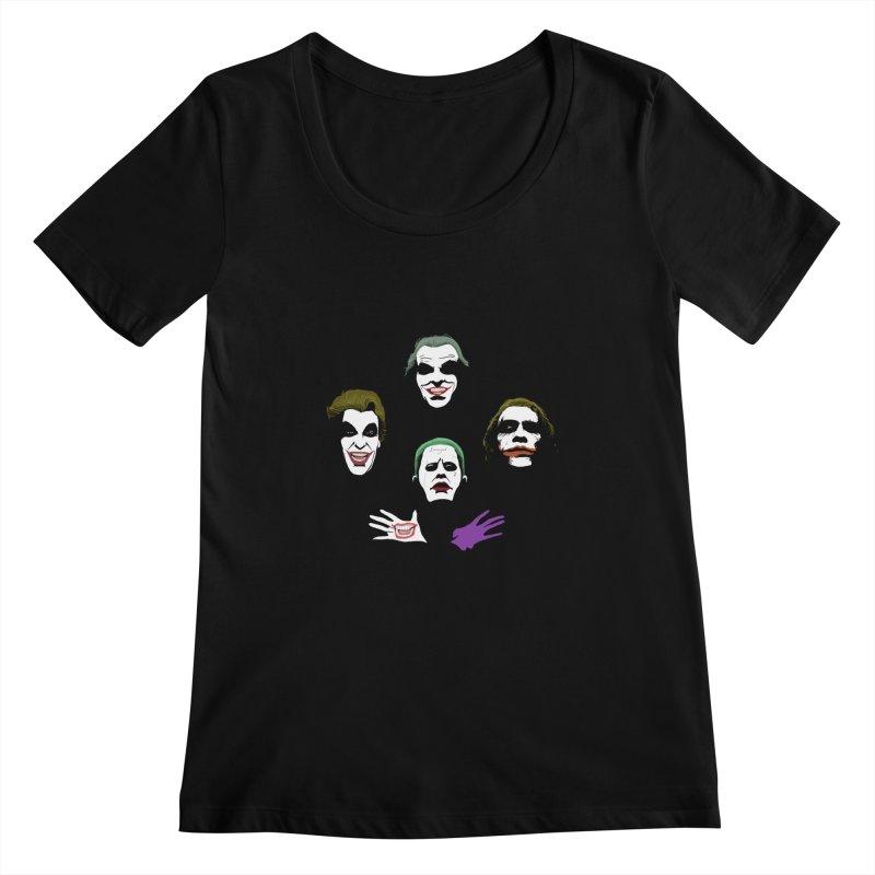 the Joker Rhapsody Women's Scoopneck by Andrew's Fantastic World Shop