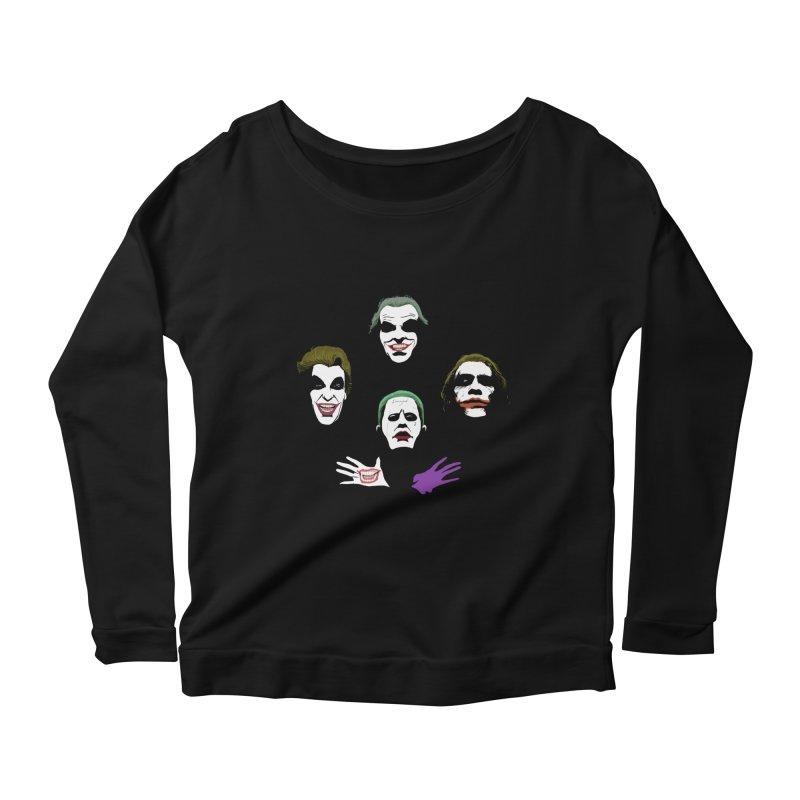 the Joker Rhapsody Women's Longsleeve Scoopneck  by Andrew's Fantastic World Shop