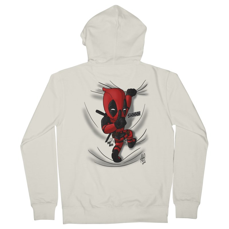shush Mr. Pool is coming Women's French Terry Zip-Up Hoody by Andrew's Fantastic World Shop